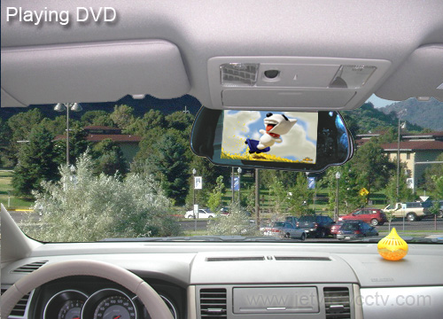 Mirror LCD Color Reverse Rear View Backup Camera System